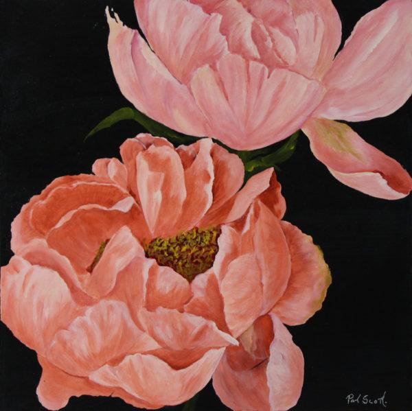 Pink Peony Deep Canvas 2' x 2' Acrylic