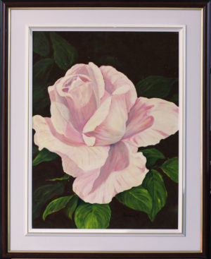 Sweethart Rose Acrylic Painting