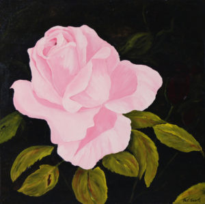Sweetheart Rose Acrylic Painting 2' x 2'