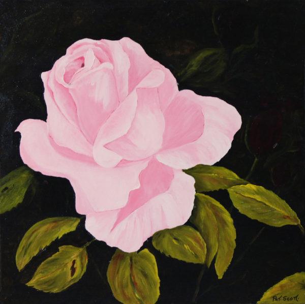 Sweetheart Rose Acrylic Painting 2' x 2'
