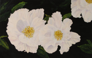 Chinese Peony acrylic painting deep canvas