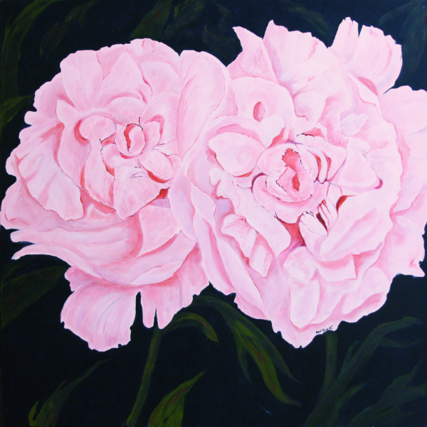 Dainty Maid Rose acrylic painting deep canvas