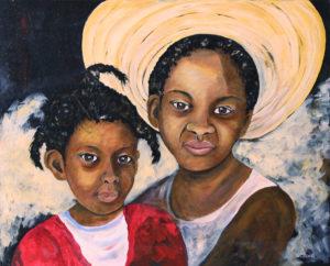 "Haiti Picture Acrylic Painting 18"" x 24"""