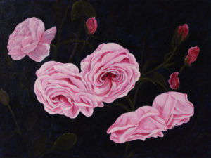 China Rose Deep Canvas acrylic painting