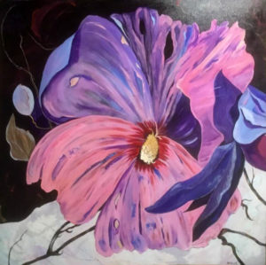 Hibiscus-4-by-4-deep-canvas-acrylic-aluminum-framed-1750